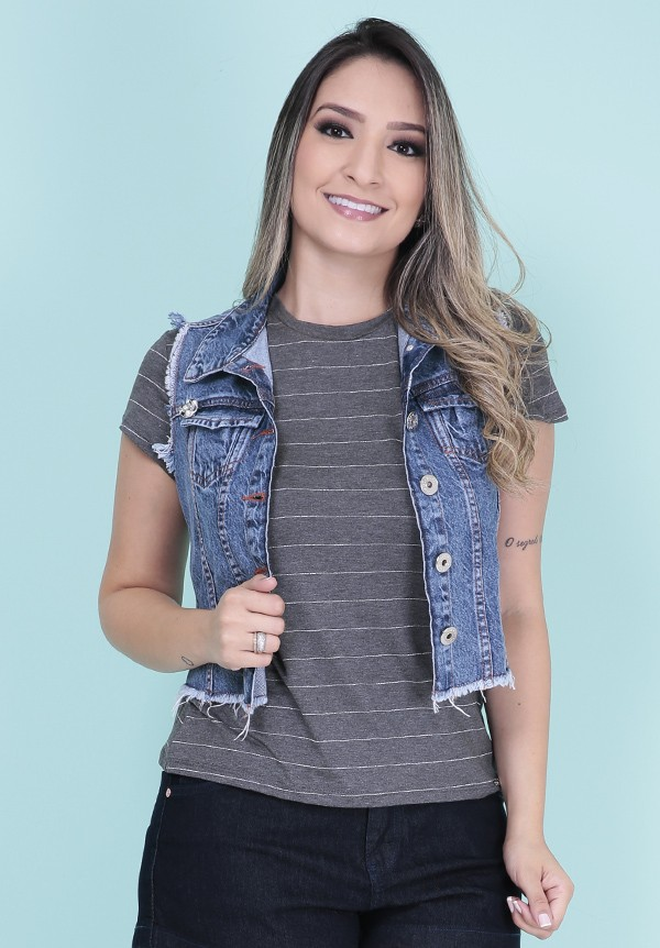 1758083-Colete Curto Jeans