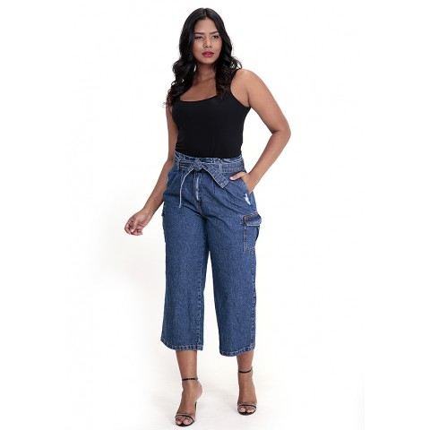 1757031-Calça Wide Leg Clochard Jeans