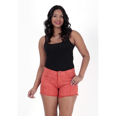 1757198- Short Anti Fit Sarja Laranja+Laser