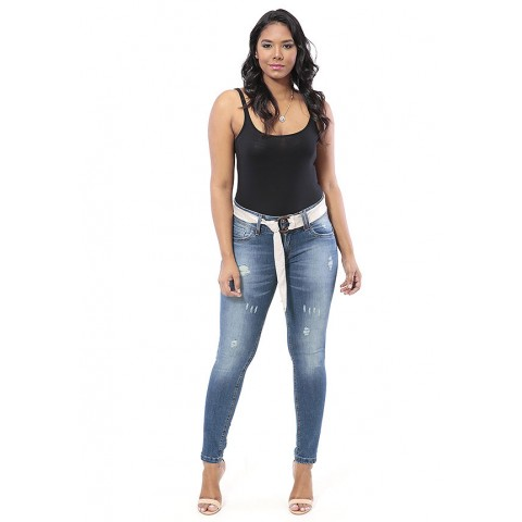 1757503 - Cigarrete Poderosa Jeans Destroyed+Esmeril+Used