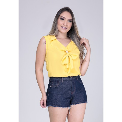 1758017- Short Hot Pant Jeans Amaciado