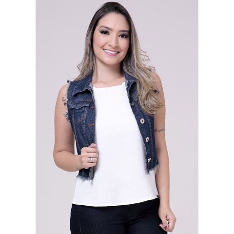 1758084-Colete Curto Jeans