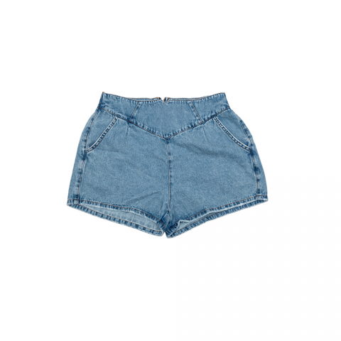 1758373-Short Hot Pant c/ Elástico Jeans