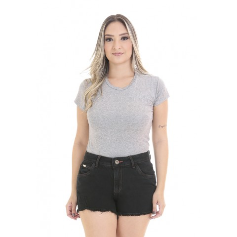 1758405-Short Anti Fit Jeans Escura