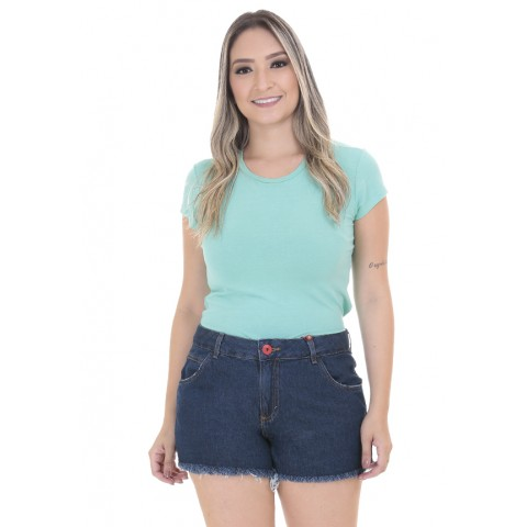 1758408-Short Anti Fit Jeans Escura