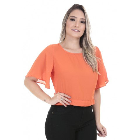 1758439-Blusa Cropped Crepe