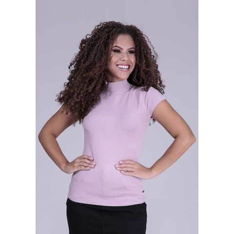 1960884- Blusa Baby Look Tricot Rosa