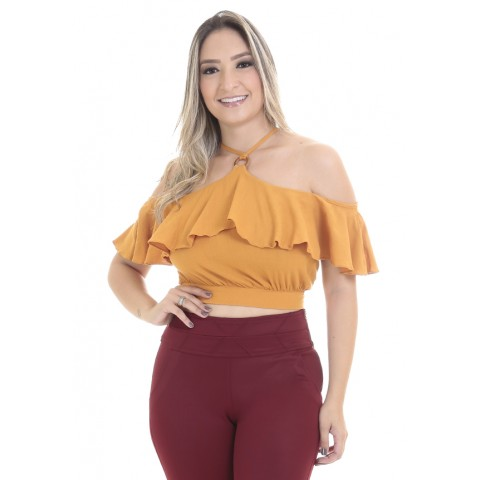 3690010-Cropped Ciganinha Viscose