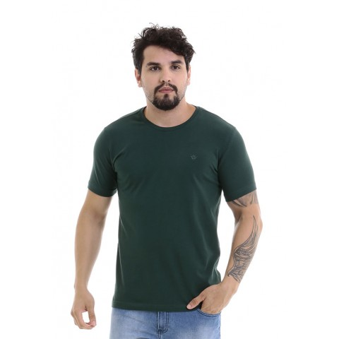 4750095-Blusa Gola Careca Cotton Verde Musgo