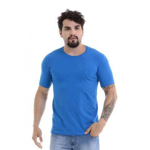 4750097-Blusa Gola Careca Cotton Azul Royal