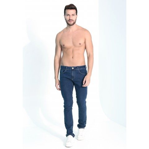 1758834-	Calça Slim Jeans Media