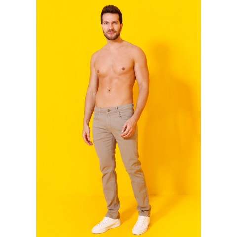 1758926-Calça Regular Basic Man Sarja