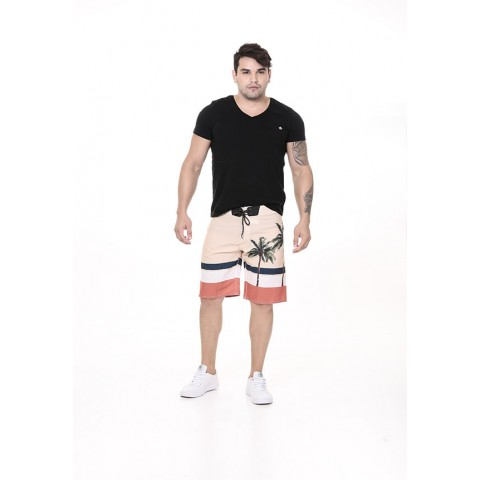 3240001-Boardshort Tactel Estampado