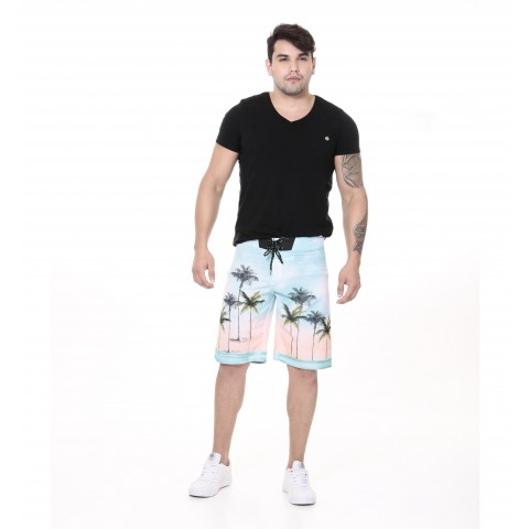 3240005-Boardshort Tactel Estampado