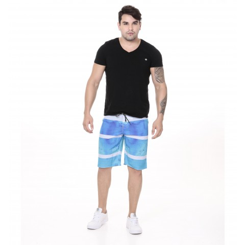 3240006-Boardshort Tactel Estampado
