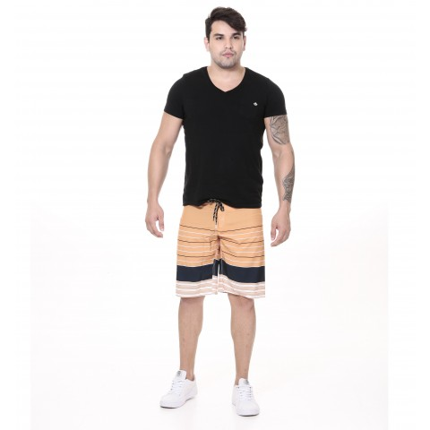 3240008-Boardshort Tactel Estampado